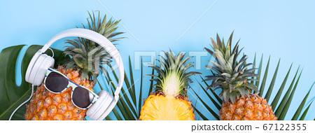 鳳梨入耳器聽音樂蜖圖菠蘿耳機菠蘿耳機 67122355