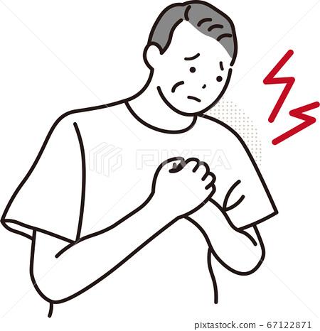 胸痛的男人 67122871