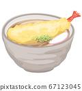 Delicious tempura udon 67123045
