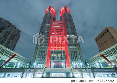 東京都政府紅燈亮起(東京警報) 67123392