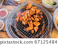 닭숯불구이, 치킨, 닭고기, 외식 67125484