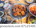 닭숯불구이, 치킨, 닭고기, 외식 67125485
