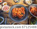 닭숯불구이, 치킨, 닭고기, 외식 67125488