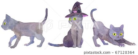 Watercolor_3黑貓(萬聖節材質) 67128364