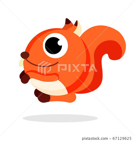 squirrel flat vector 67129625