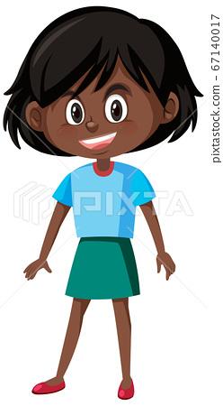 Cute girl cartoon character 67140017
