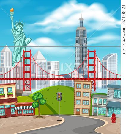 New York background scene 67140021