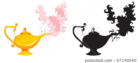 Magic lantern or aladdin lamp in color and 67140040
