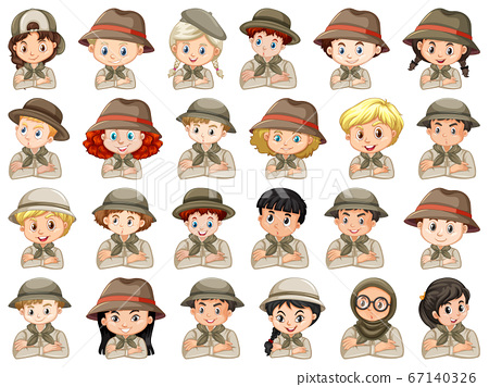 Set of different characters of boys and girls 67140326