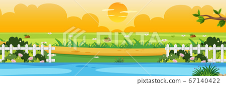 Horizon nature scene or landscape countryside with 67140422