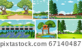 Six nature scenes with different locations 67140487