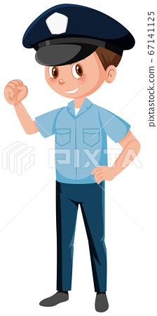 Happy police cartoon character 67141125