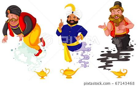 Set of fantasy cartoon characters and fantasy 67143468
