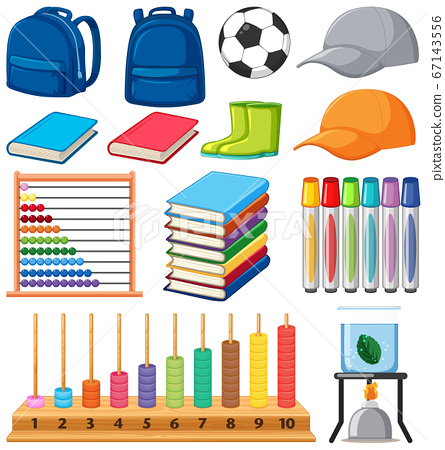 Set of stationary tools and school 67143556