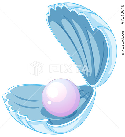 Isolated pearl in the shell 67143649