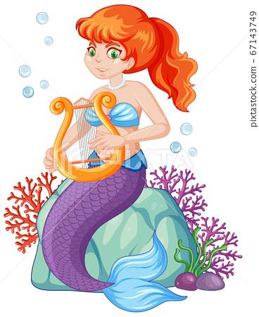 Cute mermaid cartoon character 67143749
