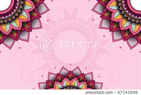 Background template with mandala pattern design 67143899