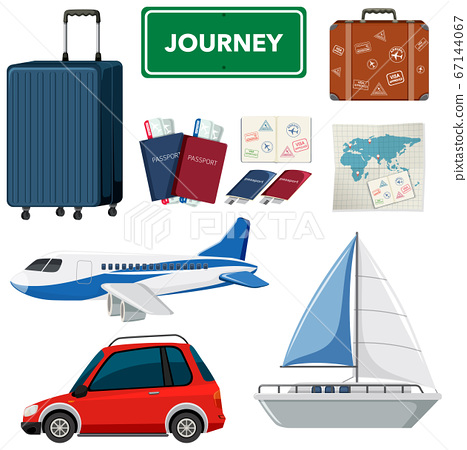 Set of holidays theme with transportations and 67144067