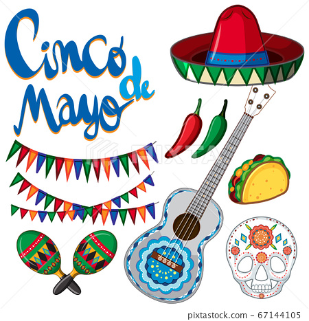Cinco de Mayo poster design with many items for 67144105