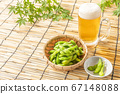 Summer tradition, beer and edamame 67148088