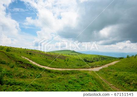 path through mountain landscape. road through 67151545