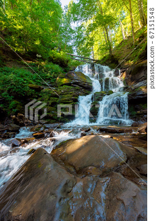 great water fall in the forest. beautiful nature 67151548