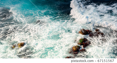 texture of sea waves. natural water background. 67151567