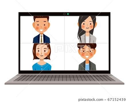在PC上群組視訊通話圖片 67152439