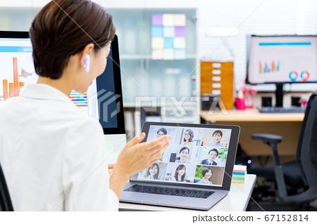 온라인 미팅 노트북 67152814