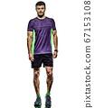 mature man running runner jogging jogger isolated white background 67153108