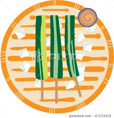 蘸黃瓜串的插圖 67153428