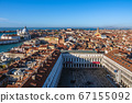 View to historical buildings in Venice, Italy 67155092
