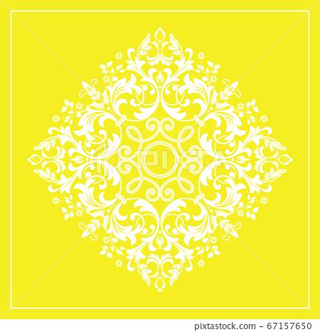 Damask graphic ornament. Floral design element. 67157650