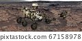 Mars. The Perseverance rover deploys its equipment 67158978