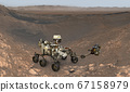 Mars. The Perseverance rover deploys its equipment 67158979