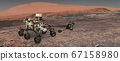 Mars. The Perseverance rover deploys its equipment 67158980