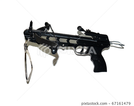 Sports black crossbow on a white background.  67161479