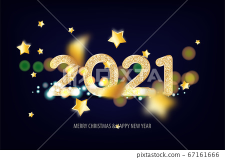 2021 Happy New Year tradicional lettering text 67161666