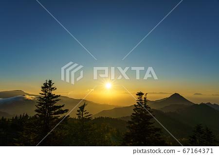 Shiga Kogen Sunset from Mt. Yokote 67164371