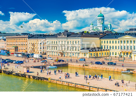Picturesque cityscape of Helsinki, Finland 67177421