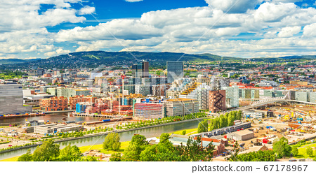 Beautiful cityscape of Oslo on a summer day, Norway 67178967
