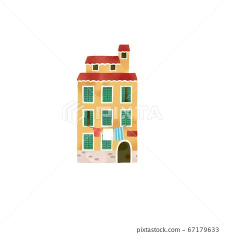 時尚的意大利房子的插圖 67179633