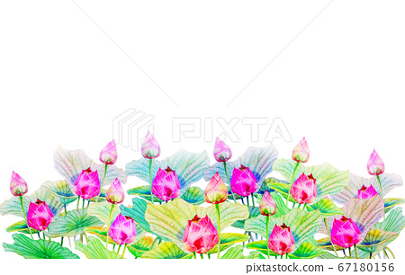 Watercolor painting on paper happy postcard 67180156