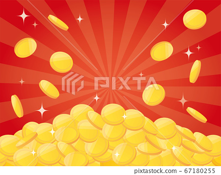 Pile of gold coins 67180255