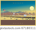 Evening landscape of Nevada, USA 67180311