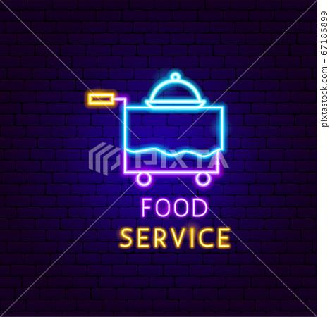 Food Service Neon Label 67186899