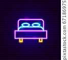 Bed Neon Sign 67186975