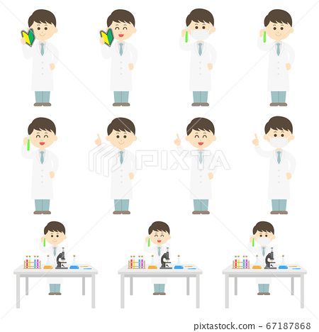 亞洲科學家的插圖集 67187868