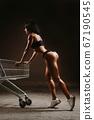 sexy fitness woman posing in underwear 67190545