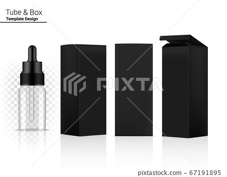 Transparent Dropper Bottle Mock up Realistic 67191895